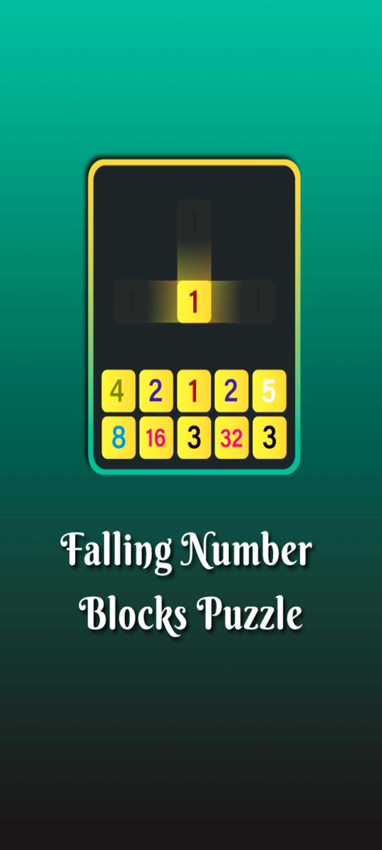 Falling Number Blocks Puzzle: Merge and Win